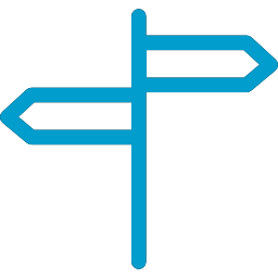 directional-arrows-signals-on-a-pole-blue